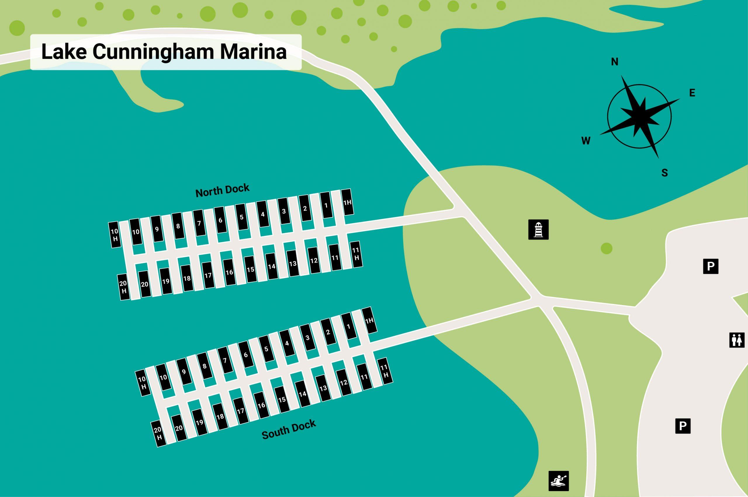lake cunningham marina map