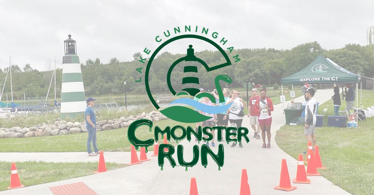 c monster run race starting line